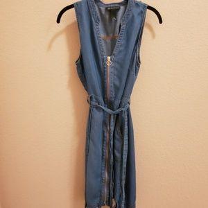 INC International Concepts Sleeveless Denim Dress